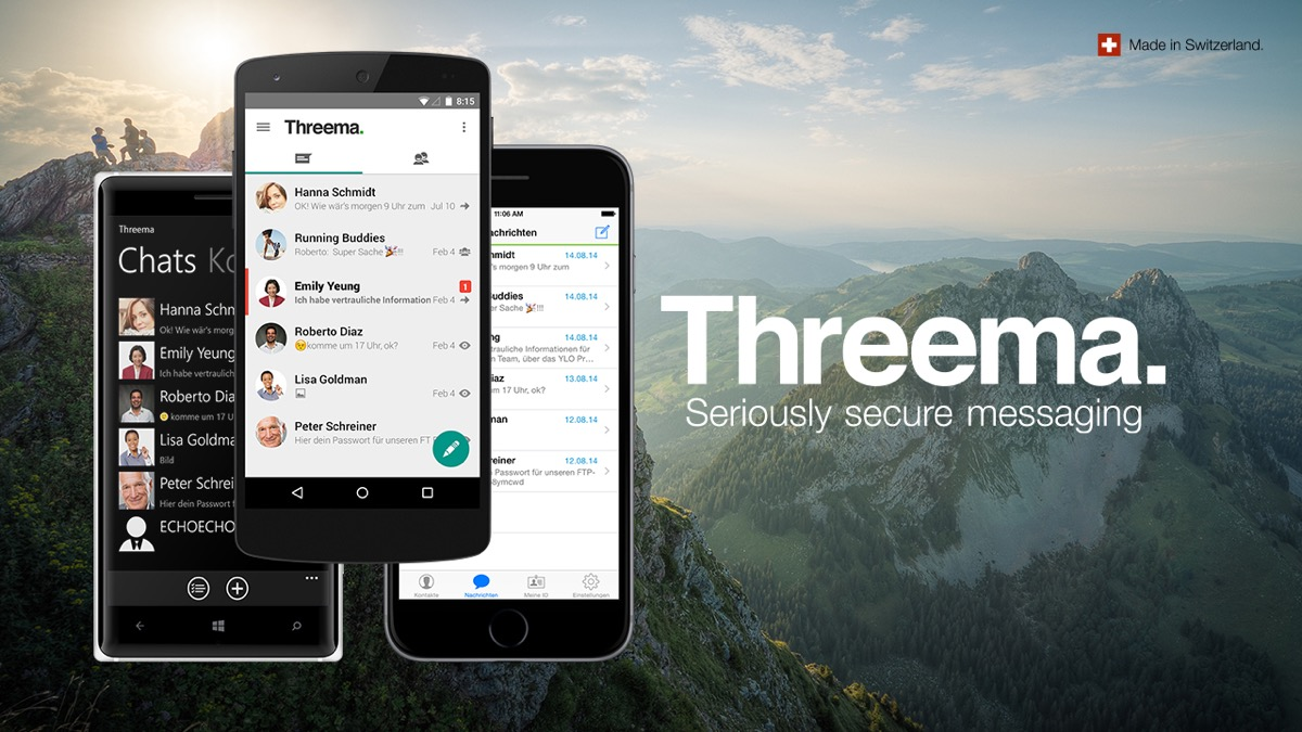 Android app Messenger threema