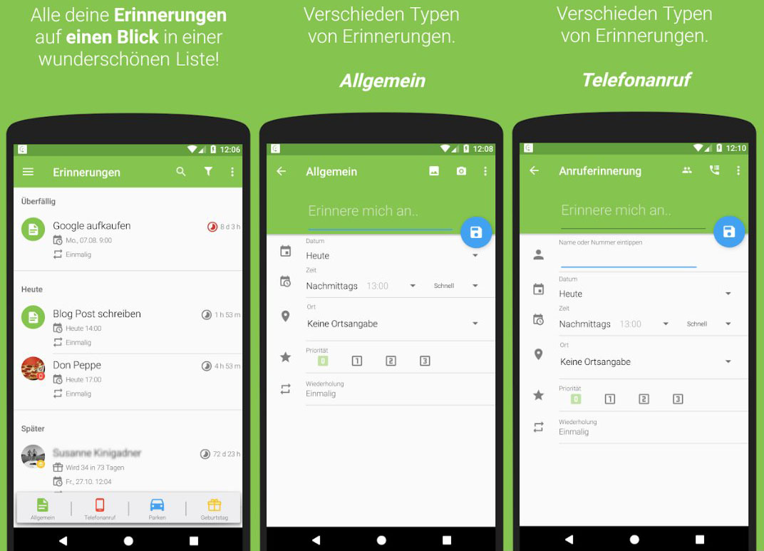 Android erinnerung location Reminder