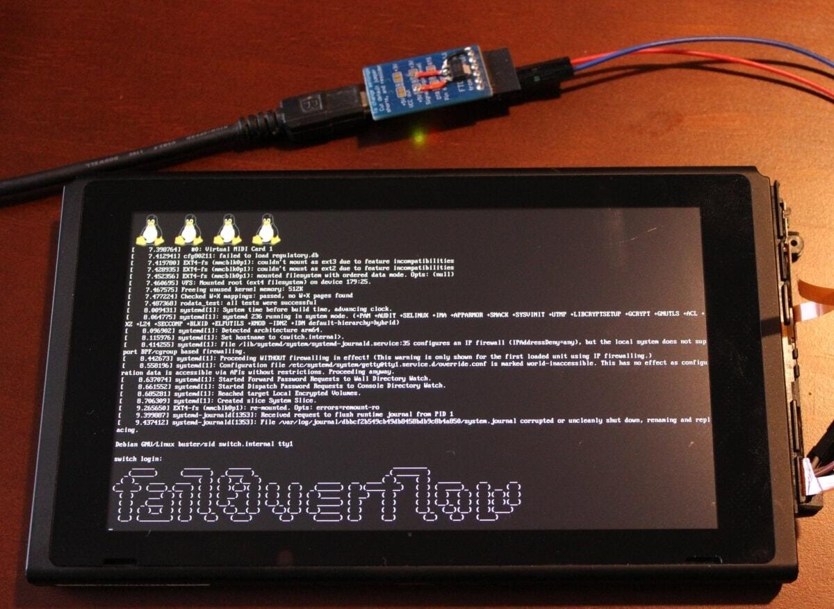 fail0verflow Hacker Linux Nintendo Switch