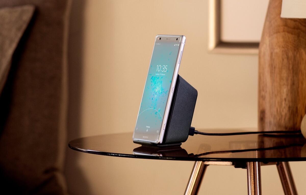 aff Android dockingstation qi Sony test wch20 Xperia xz2