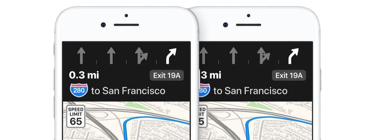 Apple iOS iphone karten Maps navigation