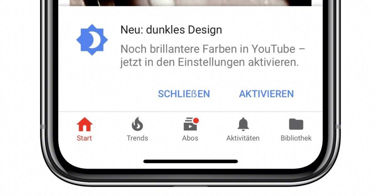 Android Apple Dark Mode Google iOS social TV Update Video YouTube