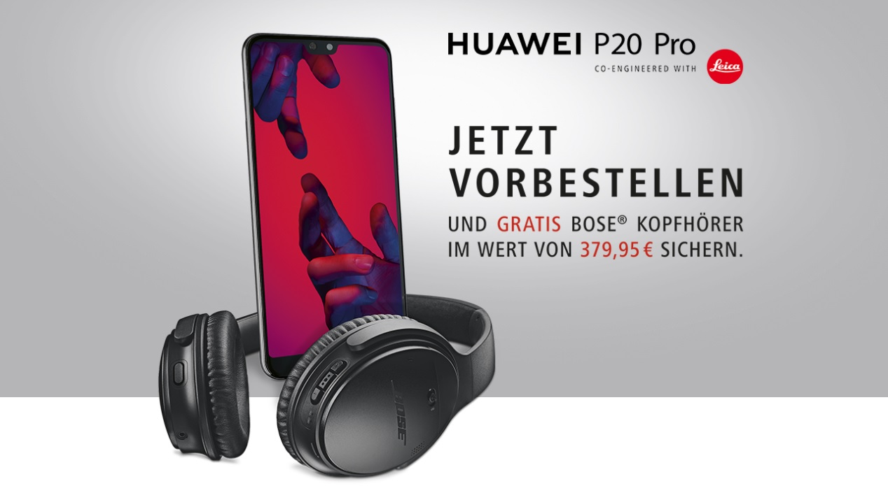 bose kopfh rer zum p20 pro huawei hebt limitierung auf 4. Black Bedroom Furniture Sets. Home Design Ideas