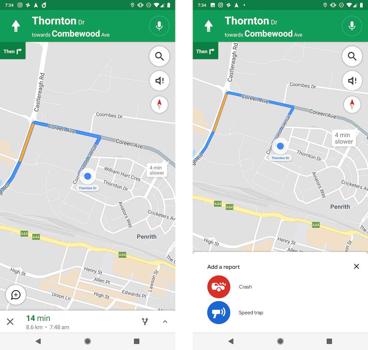 Blitzer Google Maps