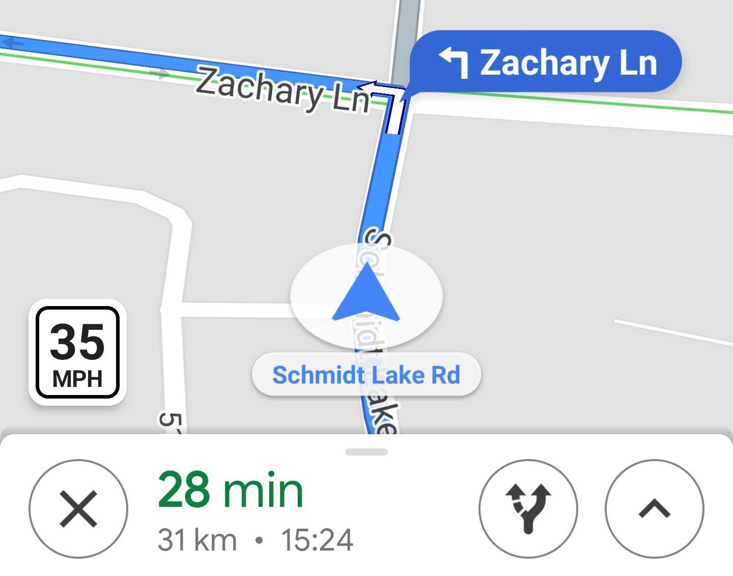 Google Maps Tempolimit