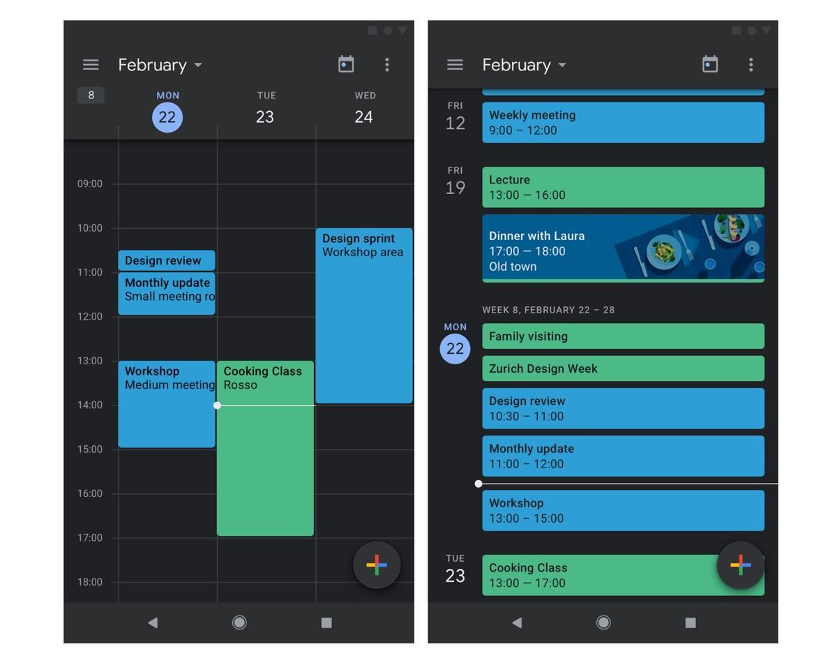 Android: Google kündigt Dark Mode für Kalender und Notizen an