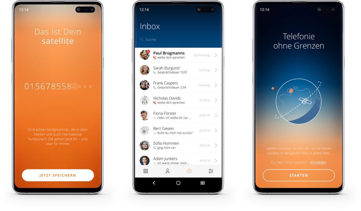"""Satellite: """"App-Handynummer"""" startet für Android"""