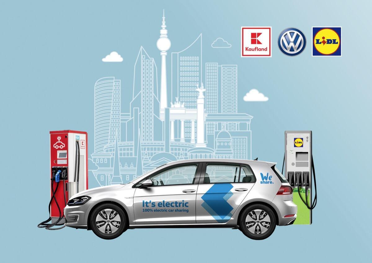 VW schließt E-Partnerschaft mit Lidl und Kaufland