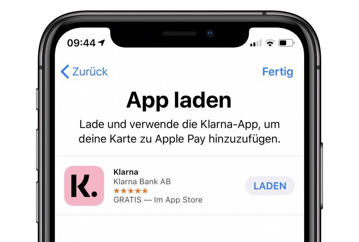 Klarna Kreditkarte startet bei Apple Pay