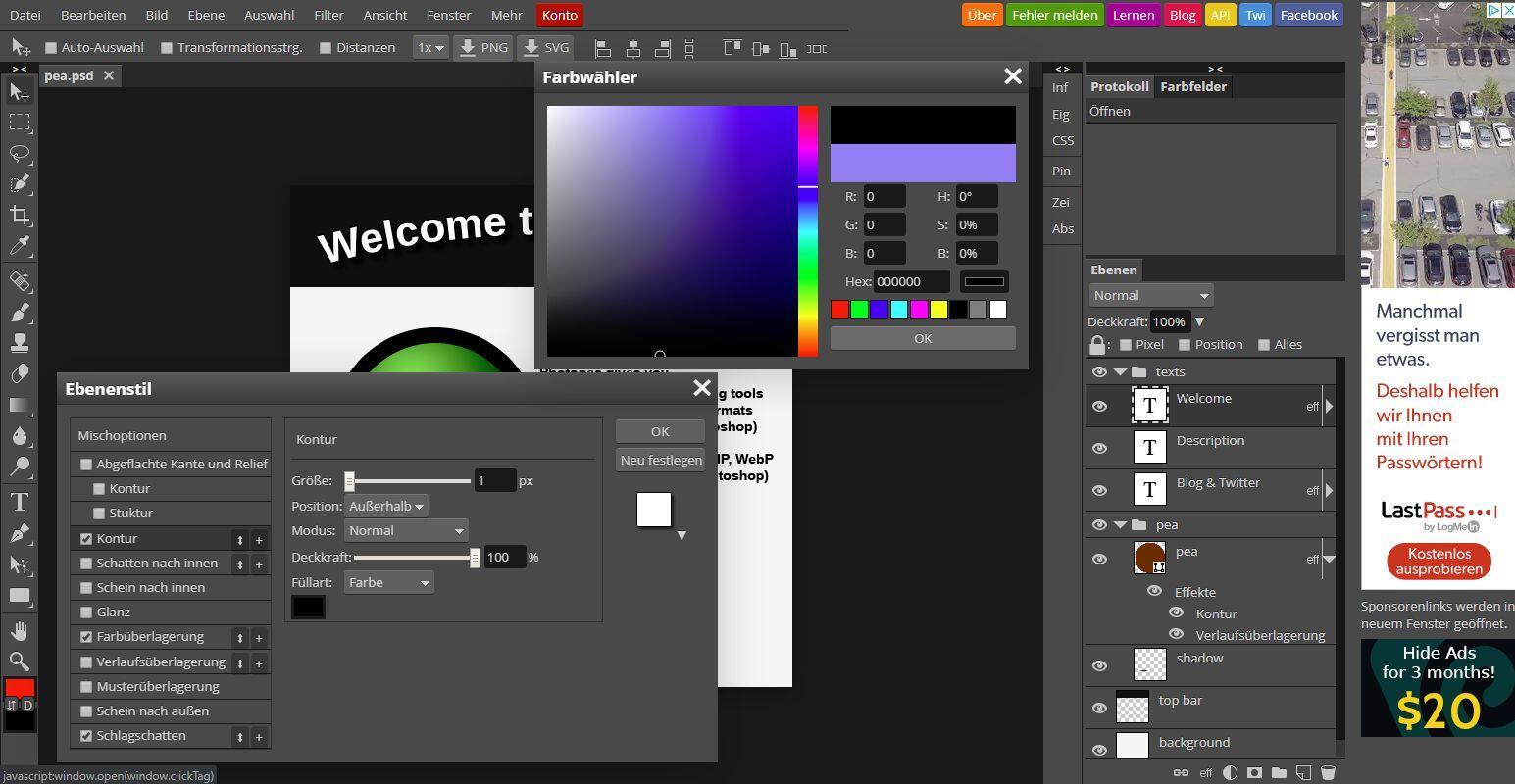 Photopea: Photoshop-Klon als Web-App im Browser